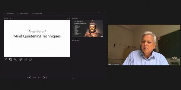 Prof. Sheshadri - mind quietning