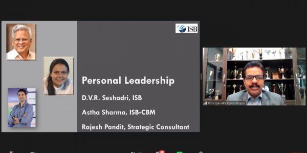 Prof. Sheshadri personal leadership